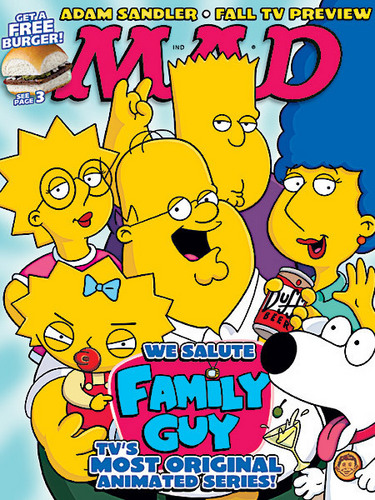 Family Guy transformed into The Simpsons