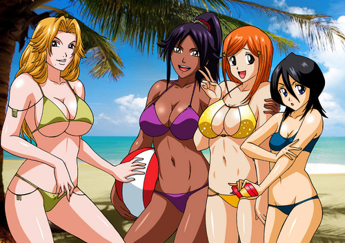animê bleach wallpaper containing animê called GIRLS