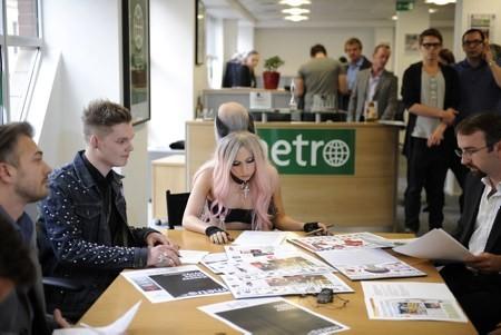 Gaga At Metro newspaper offices in London, UK (May 16)
