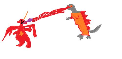 Godzilla Vs DESTROYAH!!! art