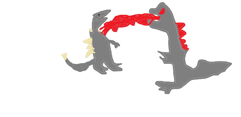 Godzilla Vs Spacegodzilla art