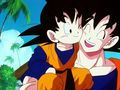 Goten and Goku meet for the first time - goku screencap