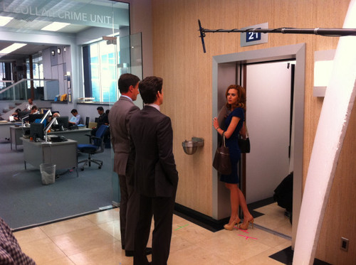 HIlarie Burton On The White Collar Set