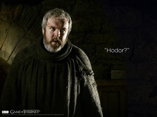 Game of Thrones wallpaper possibly with a cloak titled Hodor