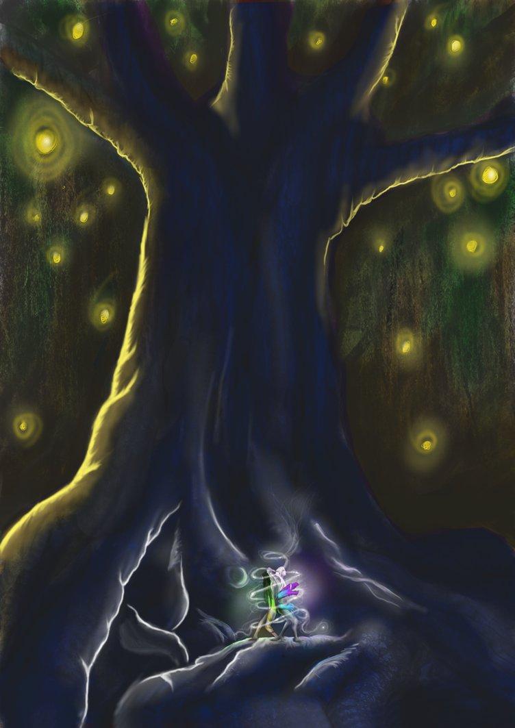 Iduna and Nëya under the Menoa árbol