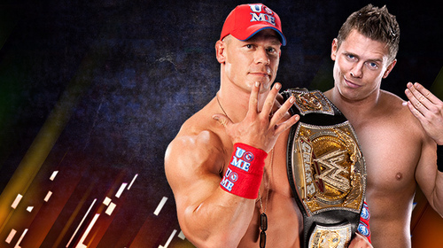 WWE kertas dinding called John Cena vs The Miz-Over the