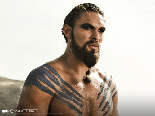 Game of Thrones karatasi la kupamba ukuta possibly containing a hunk titled Khal Drogo