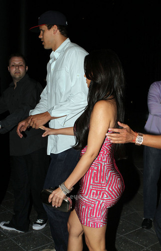 Kim Kardashian & Kris Humphries in Miami.