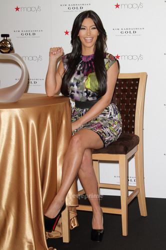 Kim Kardashian promotes her Fragrance in Florida.