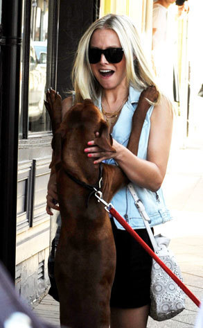 Kristen sino and a doggie