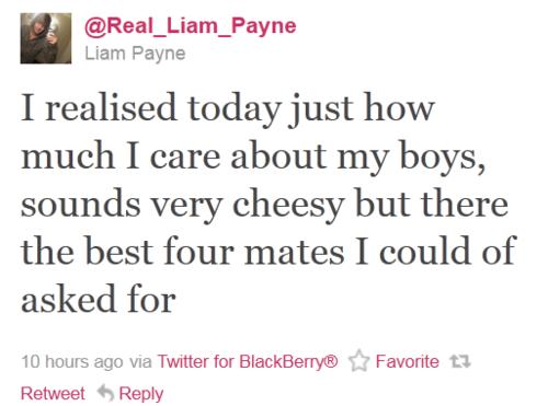 Liam Payne tweet about his boys <3