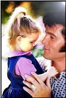Elvis Aaron Presley and Lisa Marie Presley wallpaper with a portrait called Lovely !!!