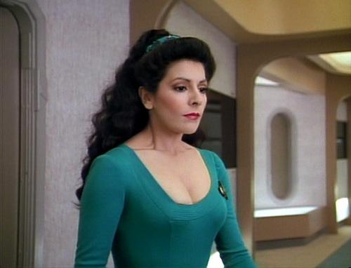 bintang Trek-The seterusnya Generation kertas dinding containing tights and a leotard entitled Ménage à Troi