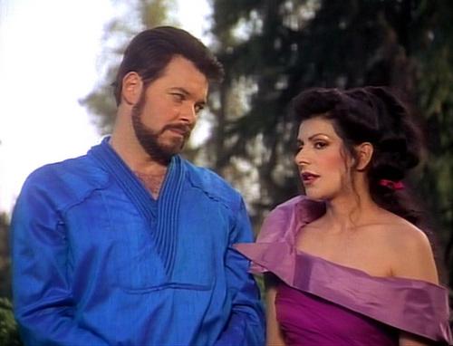 bintang Trek-The seterusnya Generation kertas dinding called Ménage à Troi