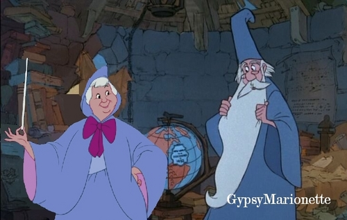 Merlin and Fairy Godmother