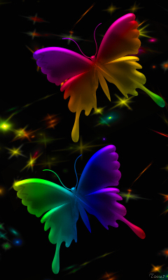 Bright Colors Images Neon Butterflies Wallpaper And Background Photos