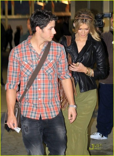 Nick Jonas: sinema with Delta Goodrem! (05.15.2011) !!