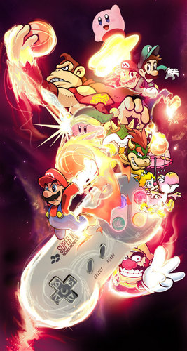 Nintendo Characters - fan Art