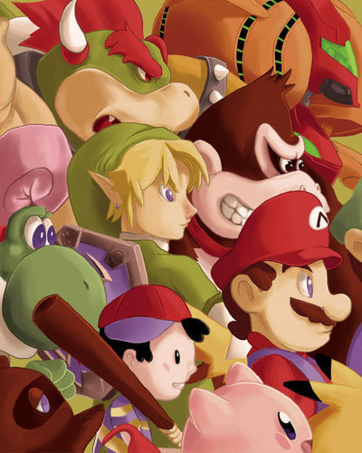 Nintendo Characters - We Will Fight 'Till the End