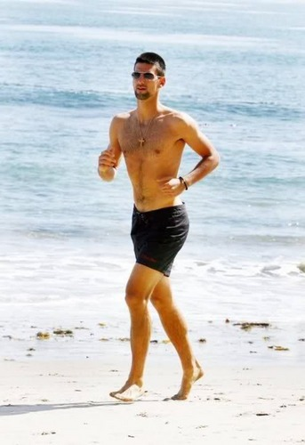 Novak On The Beach!! (Love Everyfing Bout The Serbernator) 100% Real ?