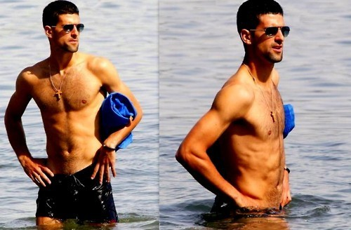 Novak Djokovic wallpaper entitled Novak Taking A Swim!! (Love Everyfing Bout The Serbernator) 100% Real ♥