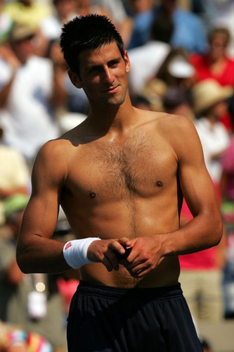 Novak Topless!!! (Love Everyfing Bout The Serbernator) 100% Real ♥