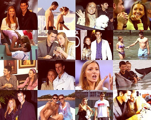 Novak Wiv His Long Term Girlfriend Jelena Ristic (Random Pics) 100% Real ♥