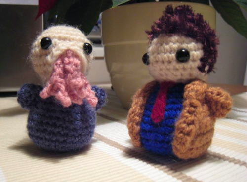 Ood and tenth Doctor plushies <3