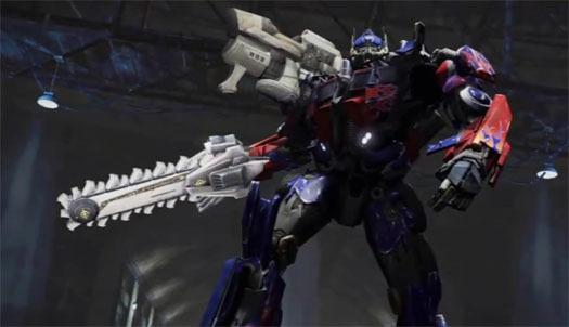 transformers dark of the moon wallpaper optimus. Optimus with MechTech guns,