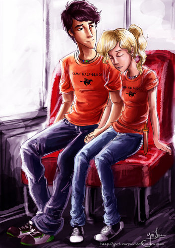 Percy And Annabeth On A Bus