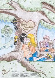 The Heroes of Olympus wallpaper with anime entitled Percy and Annabeth In A Tree
