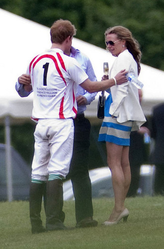 Prince Harry at a Polo Match