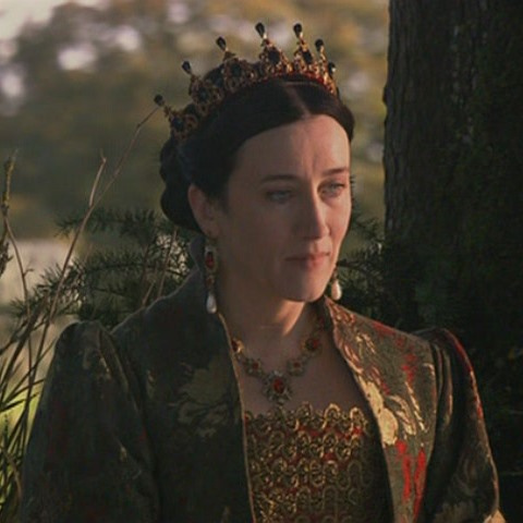 The Tudors wallpaper probably with a blouse, an outerwear, and a surcoat called queen Catherine of Aragon
