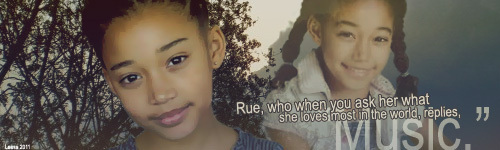 The Hunger Games wallpaper containing a portrait entitled Rue