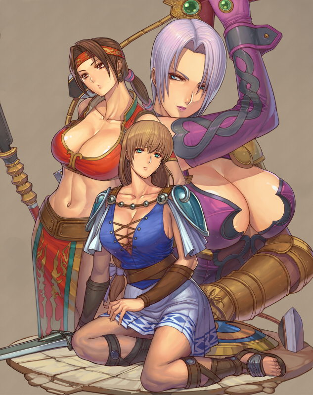 Seong-Mina, Sophitia, and Ivy
