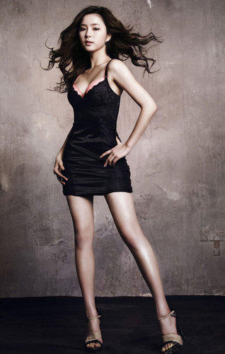 Shin Se Kyung wallpaper probably containing a bustier, a leotard, and tights entitled Shin Se Kyung For Vivien lingerie
