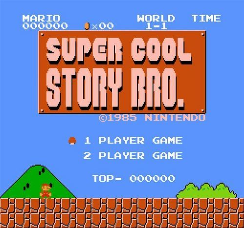 Super Mario Bros. wallpaper possibly containing anime called Super Cool Story, Bro.