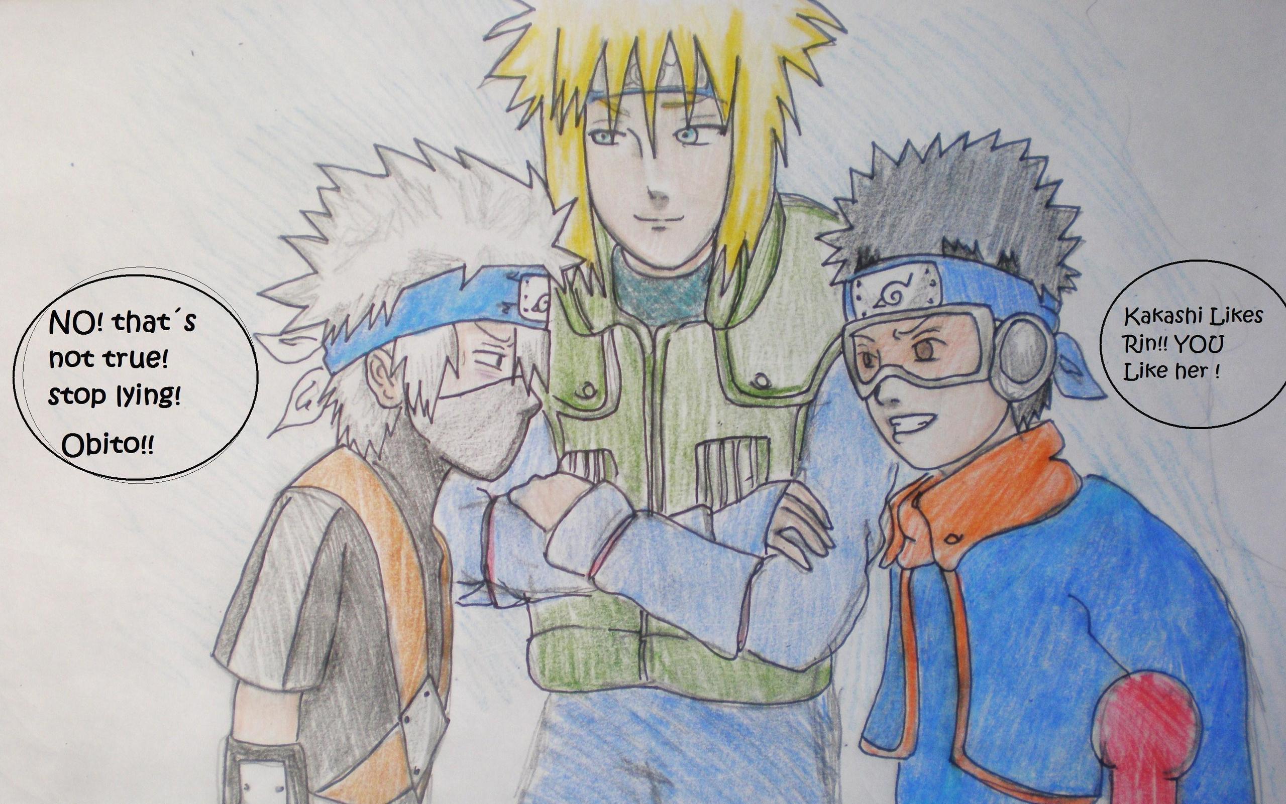 Team Minato Drawing Naruto Team Minato