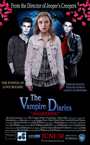 The Vampire Diaries wallpaper containing Anime titled The Vampire Diaries Movie Poster