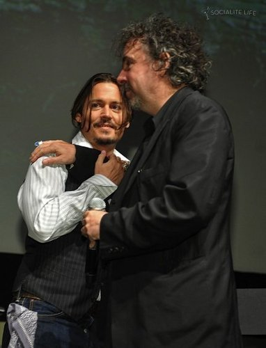 Tim aparejo, burton & Johnny Depp