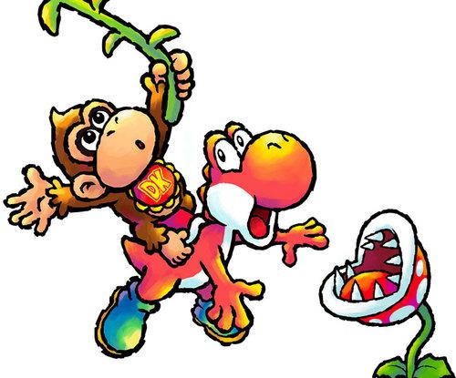 Yoshi and Baby Kong