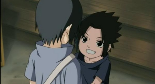 Young sasuke and itachi