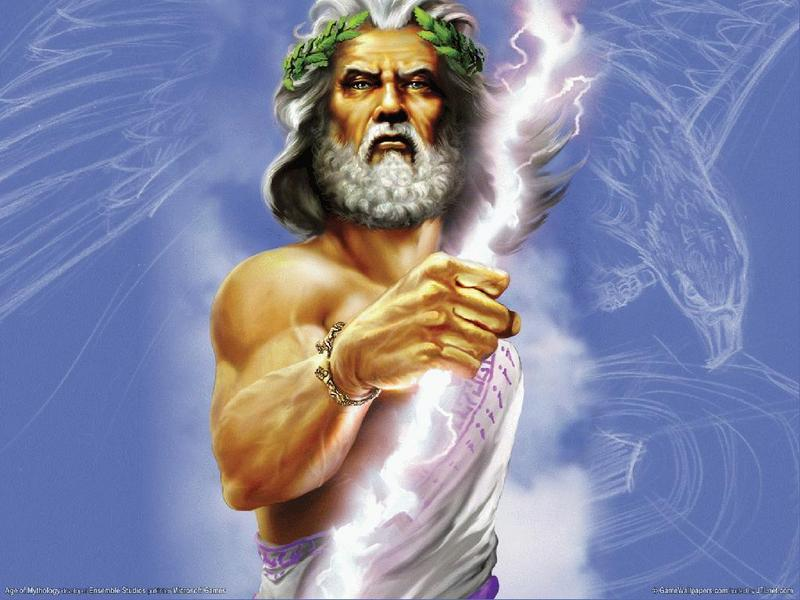 pictures of zeus god. Zeus,the Greek God of Thunder