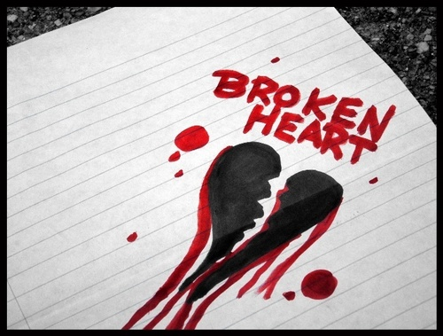 crying broken herz