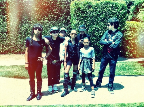 jaden-one in the back wit raiders hat