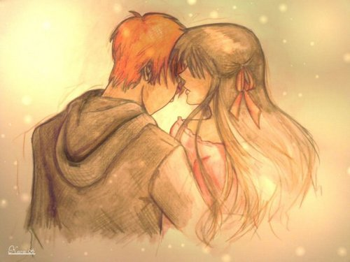 kyo and tohru drawing
