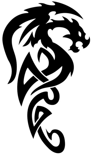 Tribal tattoos achtergrond possibly with a triskelion called tribal