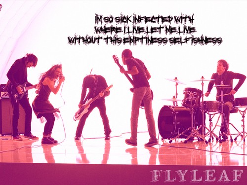 Flyleaf wallpaper with a concert called w0oh..