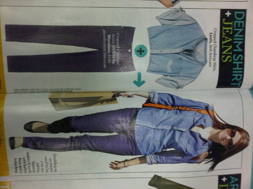 """3 Chic Ways To Mix It Up"" - Ashley Greene in OK mag"