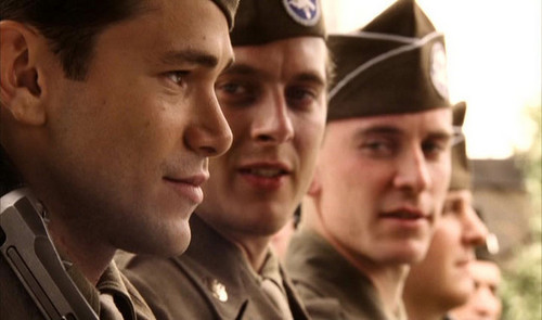 Michael Fassbender wallpaper containing a green beret, battle dress, and regimentals called  BAND OF BROTHERS